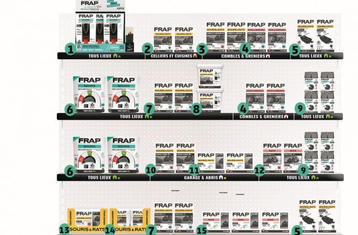 Plan Merchandising – Gamme anti rongeurs grand public – Linéaire de 1,33 m